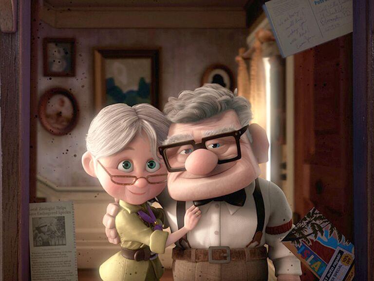 Carl and Ellie Fredricksen famous disney couples