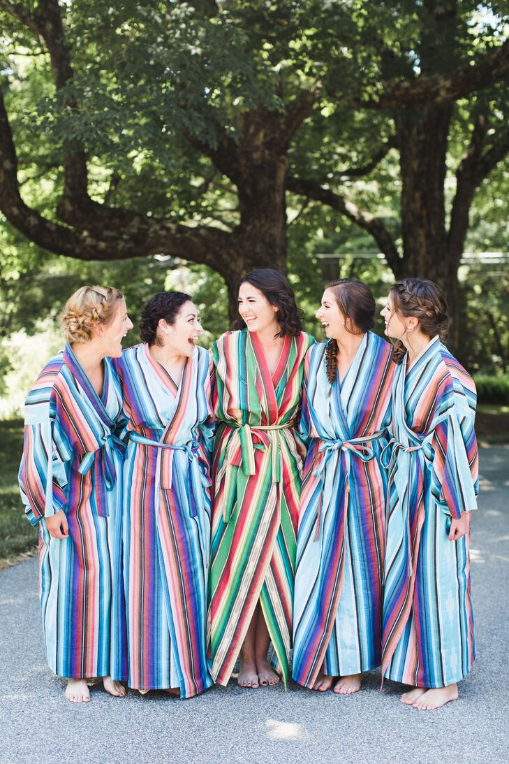 Colorful Striped Bridesmaid Robes