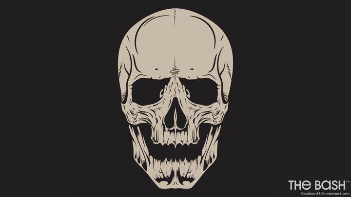 Halloween Zoom Background - Skull