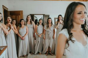 Bridesmaids Reacting to First Look at Bride