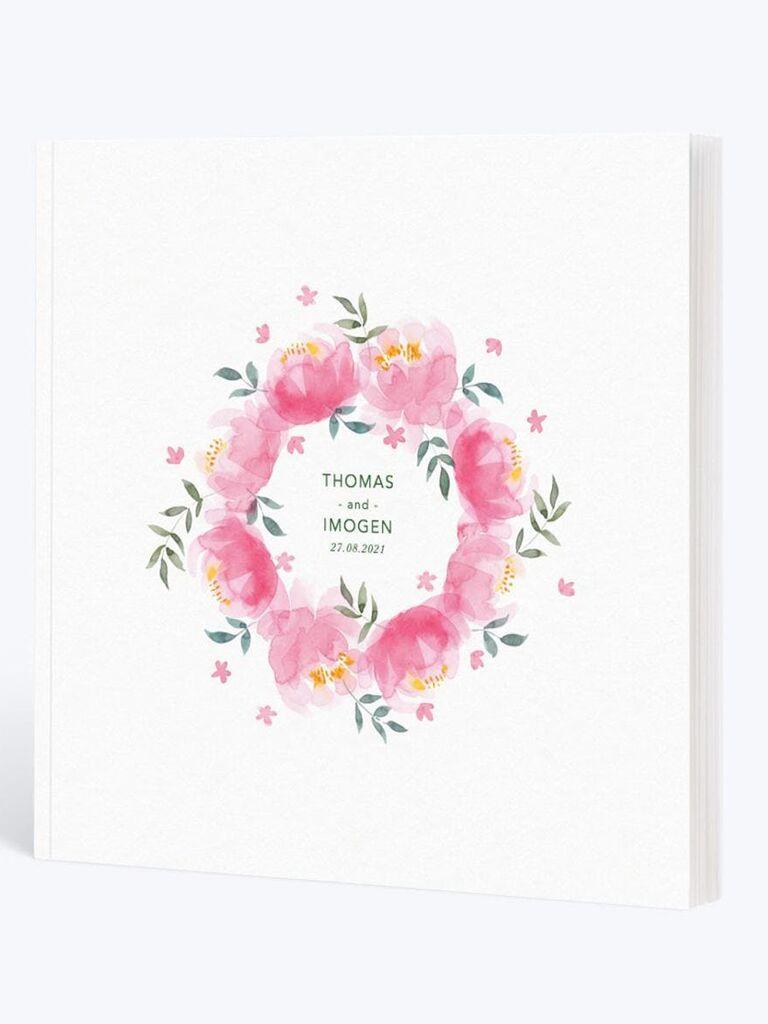 Wedding album with flowers