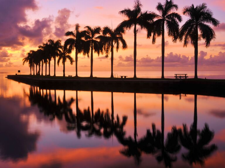 A sunset in Miami, Florida