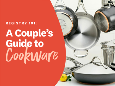 Registry 101: A Couple's Guide to Cookware graphic