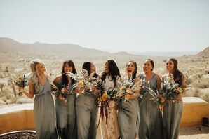Bridal Party at Sacred Sands in Joshua Tree, California