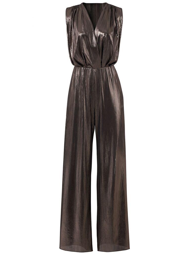 rent the runway metallic jumpsuit