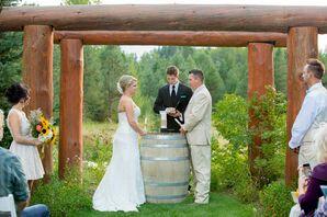 Tree Trunk Wedding Arch