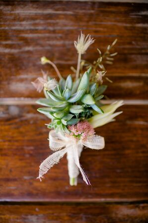 Succulent and Wildflower Boutonniere