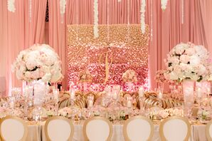 Glamorous Pink Reception with Large Centerpieces