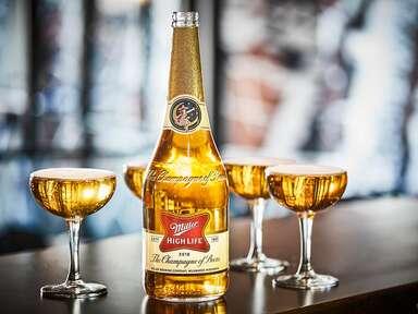 Miller High Life champagne bottle