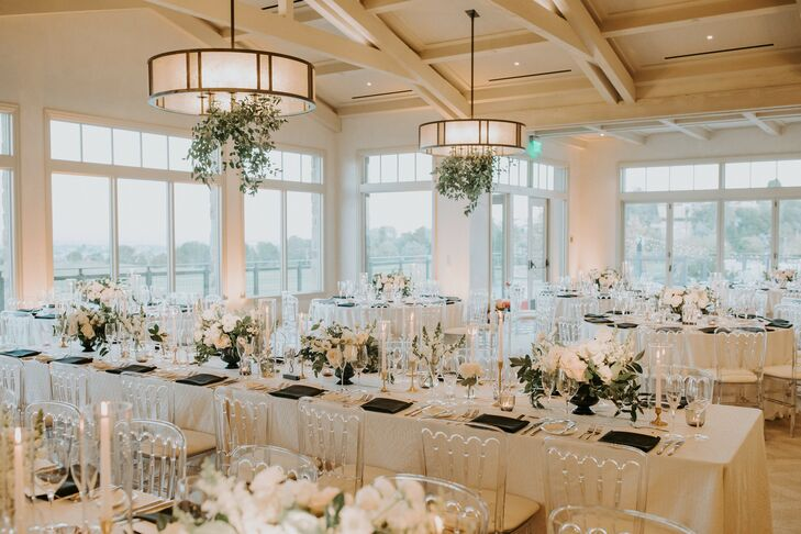 Country Club Reception with White Decor