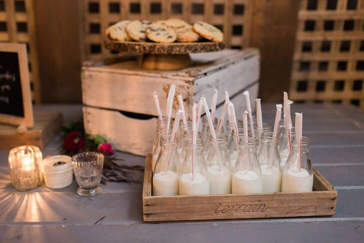 Milk and Cookie Dessert Table