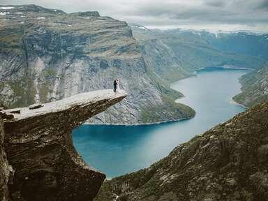 mountain elopement wedding ideas Norway