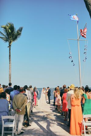 Classic Outdoor Ceremony at Ocean Reef Club in Key Largo, Florida