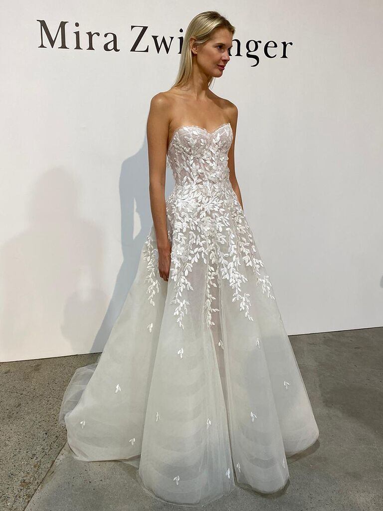 Mira Zwillinger corseted tulle ball gown