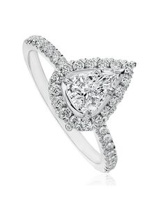 Christopher Designs Classic Pear Cut Engagement Ring