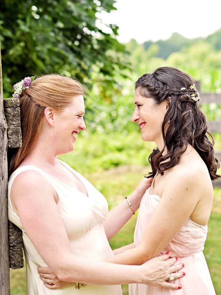 wedding braid hairstyles half-up french braid crown