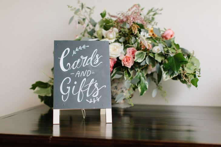 Black-and-White Chalkboard Calligraphy Sign