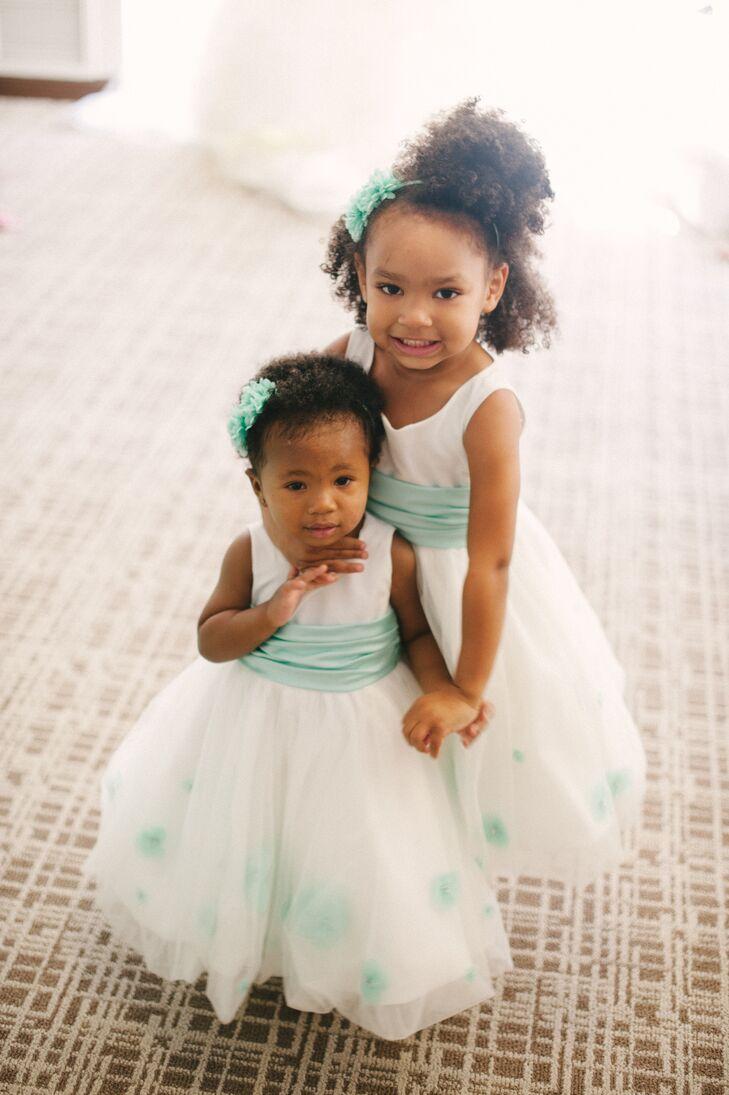 195cc3ae5cd Tiffany Blue Flower Girl Dresses