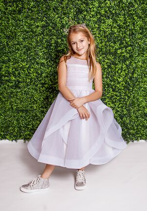 La Petite by Hayley Paige 5823-Dora Gray Flower Girl Dress