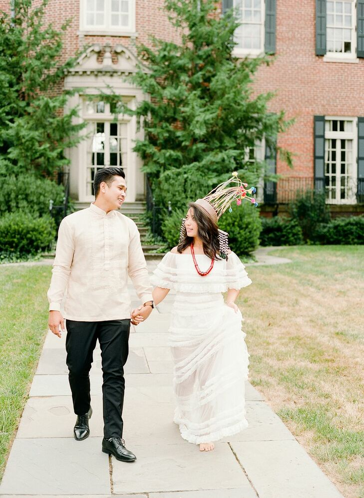 Engagement Pictures With Bride and Groom in Filipino and Mizo Attire