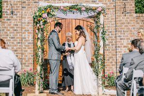 Birch and Lace Wedding Huppah