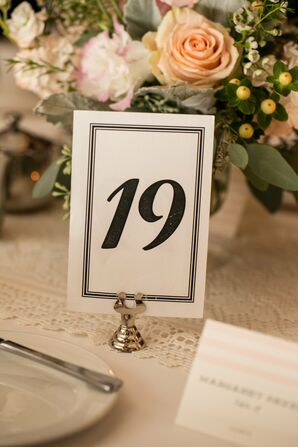 Formal Black and White Table Numbers