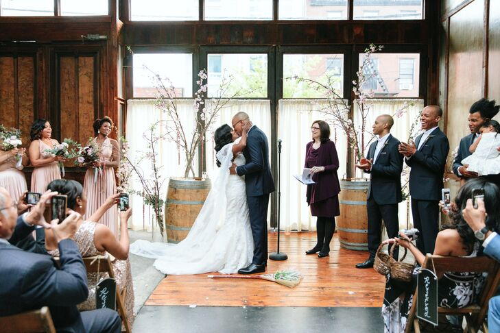 Rustic Ceremony at Brooklyn Winery