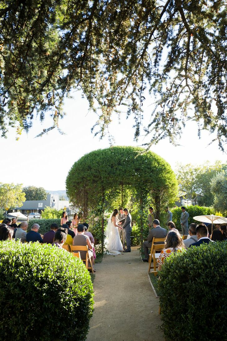 Garden Wedding Ceremony in Saint Helena, California