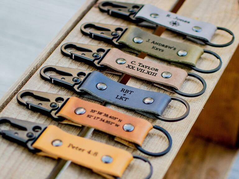 Personalized keychain gift for son-in-law