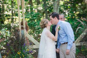Lauren and Dan Wedding Ceremony First Kiss