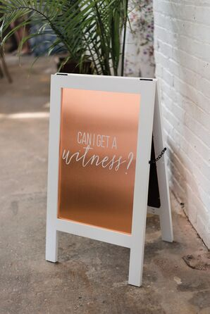 Modern Gold and White Easel Sign