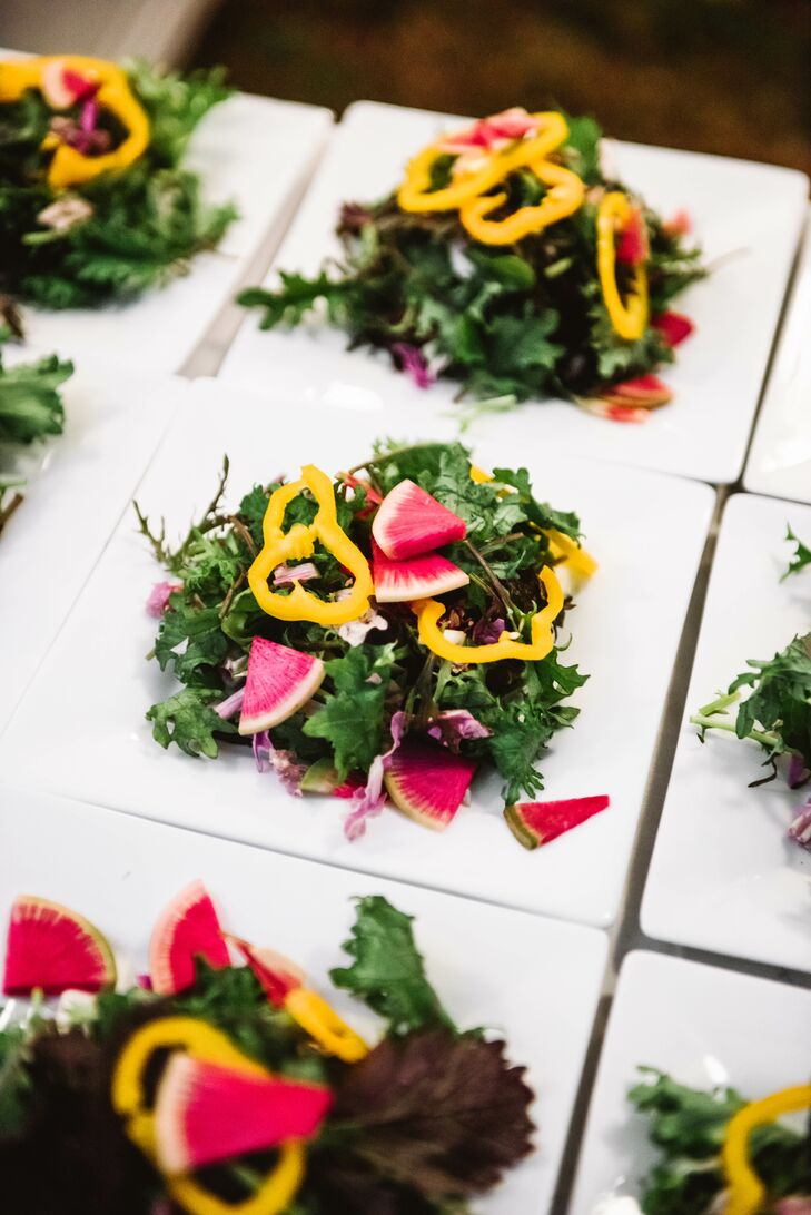 Modern and Colorful Salads at Reception
