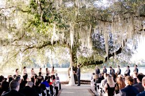 Waterfront Wedding Ceremony at  Dunes West Golf and River Club