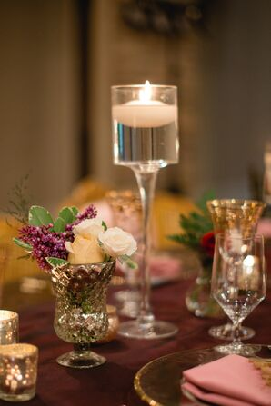 Romantic Floating Candle Centerpieces