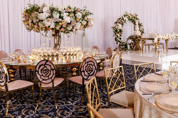 Glam Wedding Tablescapes at The Palace at Somerset in Somerset, New Jersey