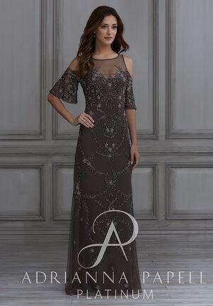Adrianna Papell Platinum 40126 Illusion Bridesmaid Dress