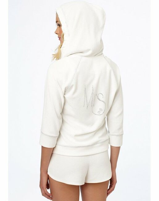 """Blue by Betsey Johnson Baby Terry """"Mrs."""" Zip Up Hoodie Blue, White Lingerie"""