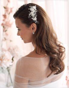 Dareth Colburn Mila Floral Hair Clip (TC-2218) Silver Pins, Combs + Clip