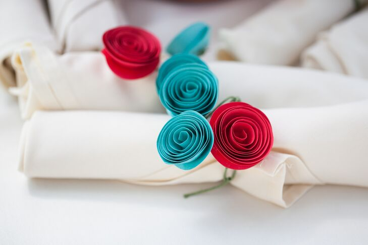 Diy Paper Flower Napkin Rings