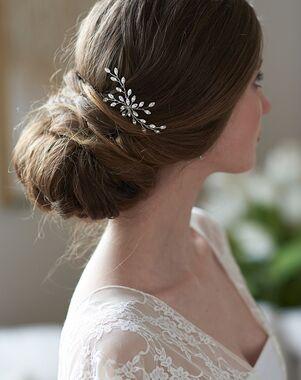 Dareth Colburn Jenna Crystal Hair Pin (TP-2844) Silver Pins, Combs + Clip