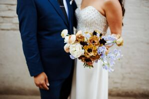 Bouquet With Sweet Pea, Lisianthus, Ranunculus and Cosmo Blooms