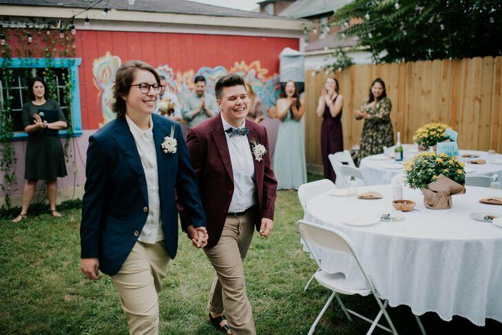 Backyard Ceremony Recessional in Detroit, Michigan