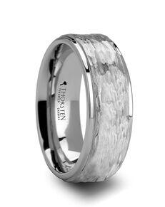 Mens Tungsten Wedding Bands W637-WTHF Tungsten Wedding Ring