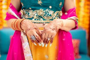 Bride with Henna and Rings for Wedding in Hawaii