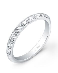 Uneek Fine Jewelry UWB018 White Gold Wedding Ring