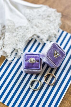 Purple Velvet Ring Box