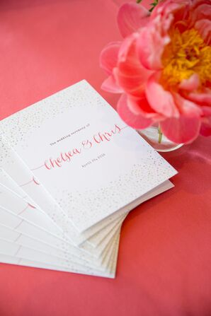 White and Pink Ceremony Programs