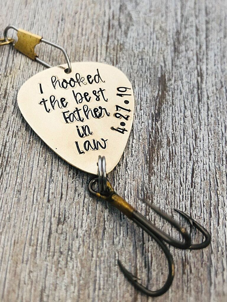 Father-in-law gift keepsake fish hook