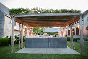 Rustic Chic Pergola Bar