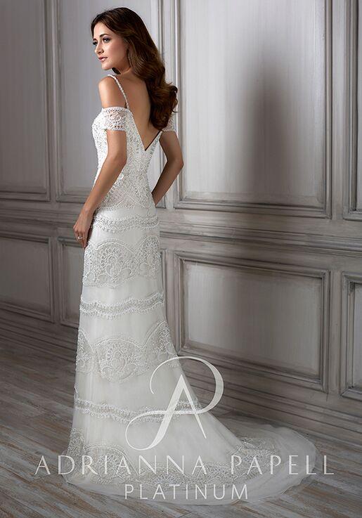 Adrianna Papell Platinum Viola Sheath Wedding Dress